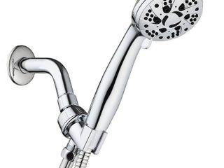AquaDance High Pressure 6 Setting 3 5  Chrome Face Handheld Shower
