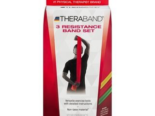 TheraBand Resistance Bands Set  Professional Non latex Elastic Band