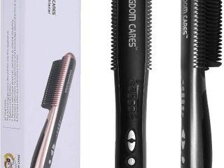 KINGDOMCARES Hair Straightening Brush Hair Straightener