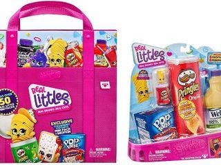 Shopkins Real littles Bundle  lil  Shopper Pack   Collectors Case