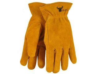 G   F 5013M JustForKids Kids Genuine leather Work Gloves  Kids Garden Gloves  4 6 Years Old