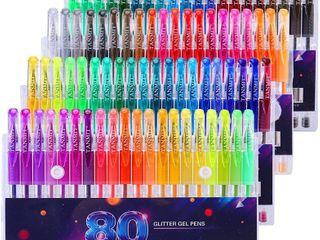Glitter Gel Pens Set 80 Colors Gel Markers Pen