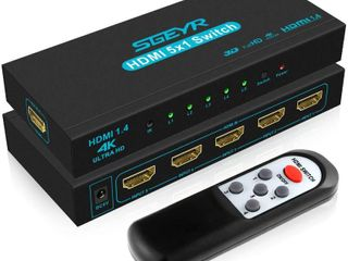 HDMI Switch SGEYR 5x1 HDMI Switcher 5 in 1 Out HDMI
