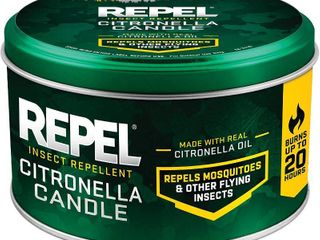 Repel Insect Repellent Citronella Candle  10 Ounce  6 Pack