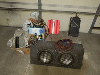 Subwoofer box with amp and speakers  also misc  subwoofers  and car stuff
