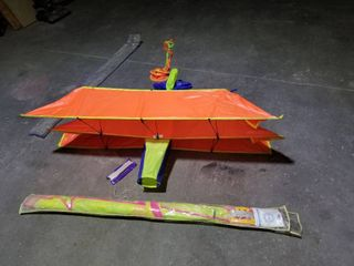 2 stunt kites, bi-plane and tri-plane