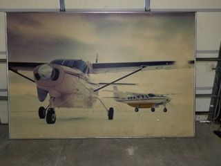 6 X8  airplane Caravan picture great for the man cave