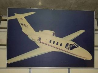 6 X8  airplane Citation CJ3 picture great for the man cave