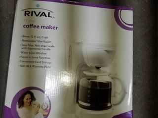 Rival coffee pot 12  cup