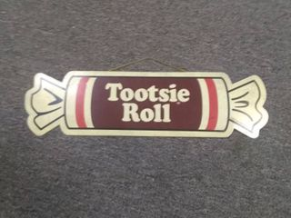 Tootsie Roll Metal Sign