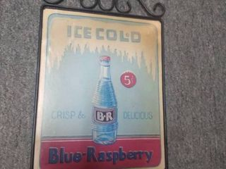 Ice Cold Blue Raspberry Sign