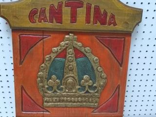 Cantina Corona Wooden Sign