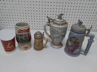 lot of 4 Collectable Beer Steins