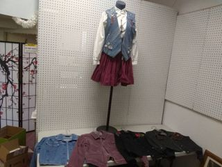 Mannequin on Stand With Outfit and 4 Women s Jackets