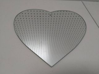 Vintage Heart Shaped Mirror Dated 1969