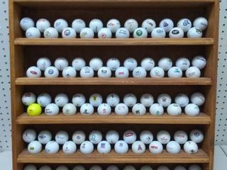 Golf Ball Rack Full of Branded Balls