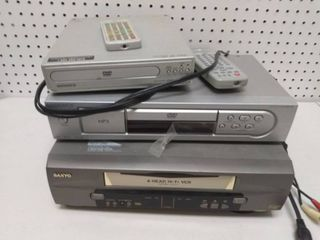 Two DVD Players and a VCR