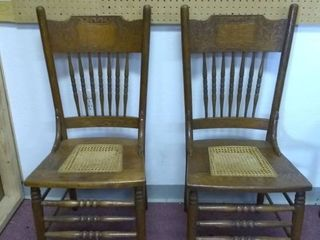 Pair of Vintage Wooden Chairs