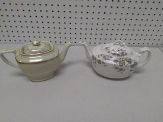 Two Vintage Teapots   Stafford and Hall