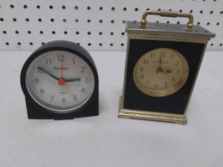 Two Small Tabletop Clocks