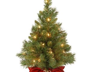 2ft National Christmas Tree Company Majestic Fir Artificial Christmas Tree 35ct Clear