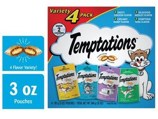 WHISKAS TEMPTATIONS Variety pack  12 Ounce