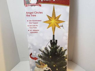 Animated Tree Topper Angels circles the tree led illuminated star topper