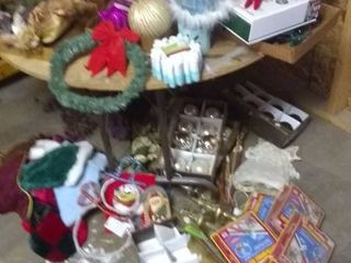 large lot of Holiday Ornaments and Decor