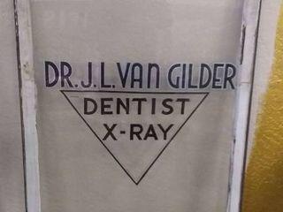 Vintage Dentist Window Sign