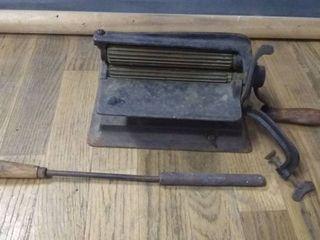 Antique Cast Iron Pleater Crimping Fluting Press
