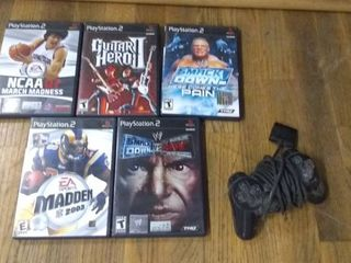 Playstation 2 Games and Controller