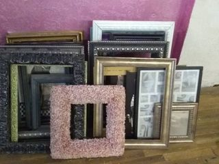 large lot of Assorted Picture Frames and Wall Art