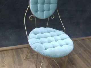 Vintage Upholstered Wire Chair