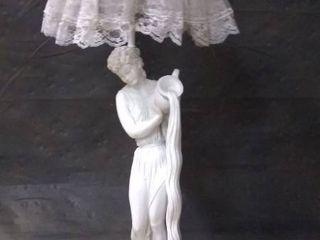 Ornate Vintage Statue lamp