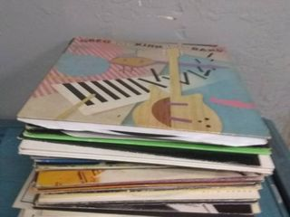 large Stack of Vinyl Records