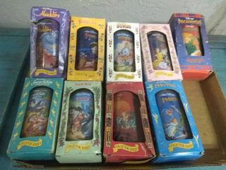 Set of 8 Vintage Disney Burger King Collectors Cups Plus One From Different Set with Boxes