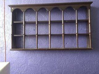Wall hanging spice rack shelf