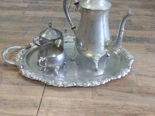 Vintage silver platter set