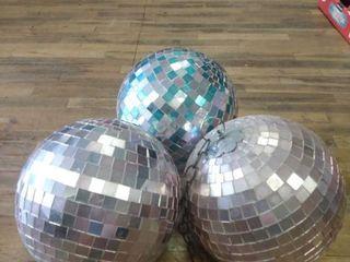 3 Disco Mirror Balls