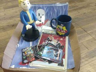 Box of Fallout memorabilia