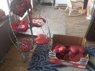 lot of Valentine Decorative Pieces