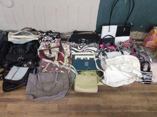 lot of Purses and handbags