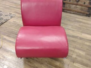 Red leather rocking chair