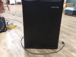 Used Black and Decker mini fridge  As is
