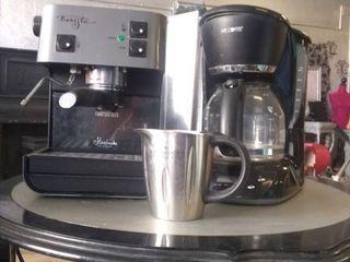Starbucks Barista coffee machine and Mr  Coffee coffee pot
