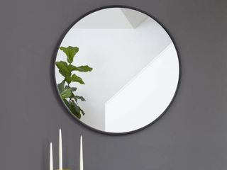 Hub Round Modern Wall Mount Mirror   Retail 100 00