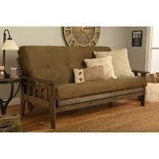 somette full size futon mattress suede brown