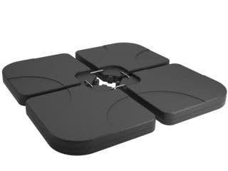 Universal Heavy Duty Plastic Umbrella Base Set of 4 Angel Weights- Retail:$89.49