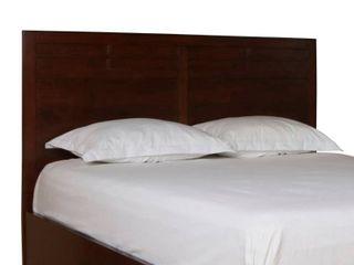 Panel Design Queen Size Wooden Headboard only Cherry Brown- Retail:$303.49