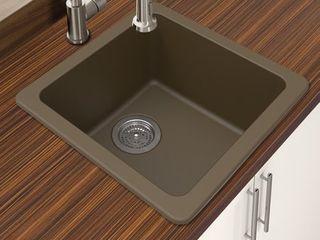 Winpro Granite Quartz Single Bowl Dual Mount Bar Sink- Retail:$167.99